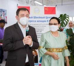 Открытие Учебного ШвейногоЦентра Послом Китая и Президентом Конгресса Женщин Кыргызстана